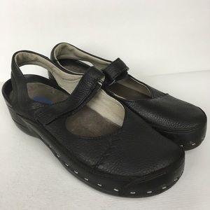 WOLKY Sz 7/38 Black Comfort Clogs Shoes Women's